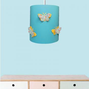 ambiance suspension eloise jaune drop bleu