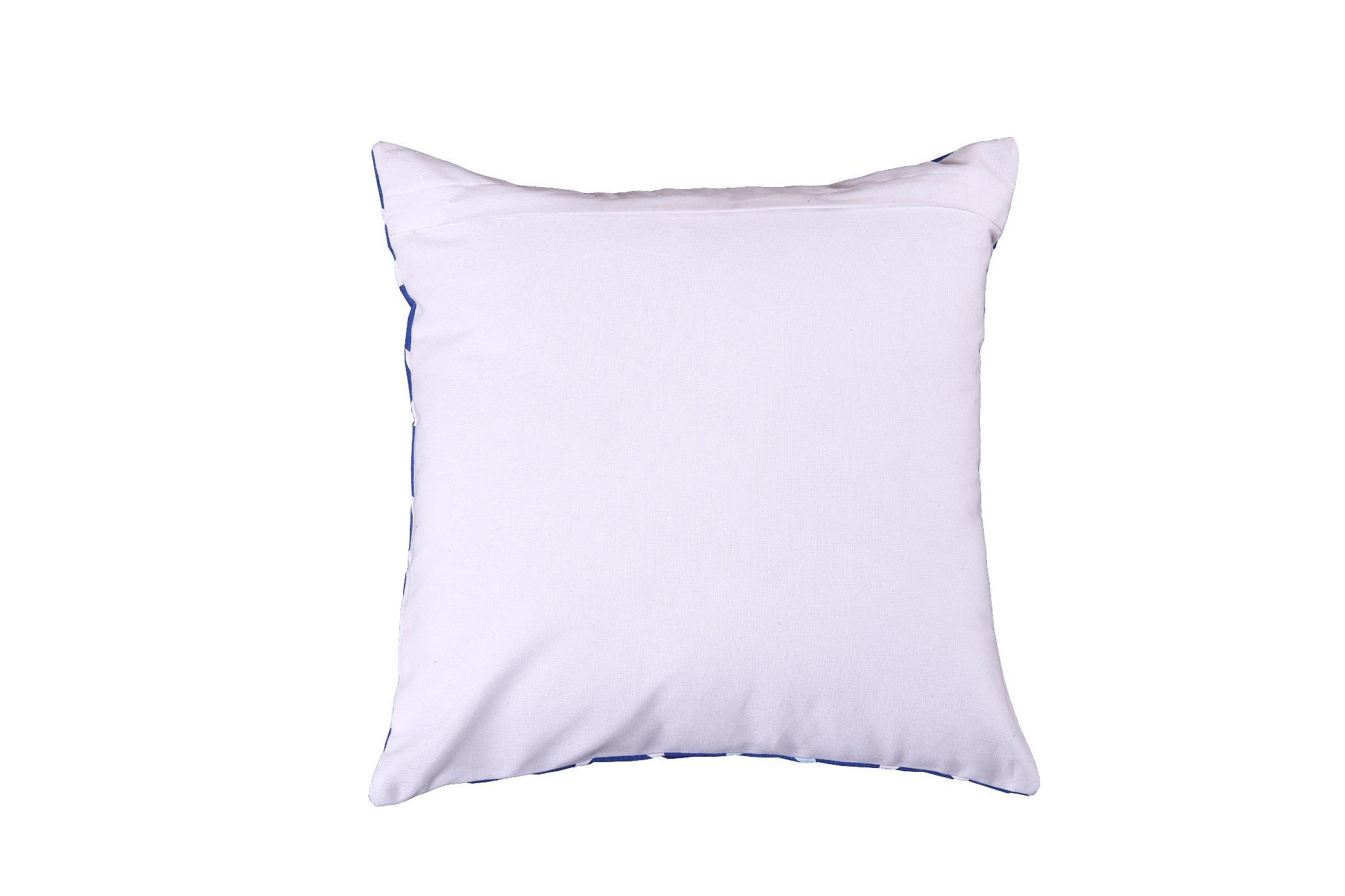 aratextil hogar coussin bleu toiles rouges blanches et bleu ciel. Black Bedroom Furniture Sets. Home Design Ideas