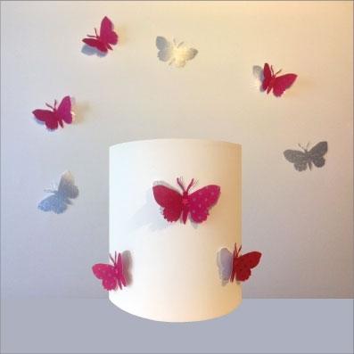 Étoilé Personnalisable 3d Rose Et Papillons Argent Applique KuTc3Fl1J