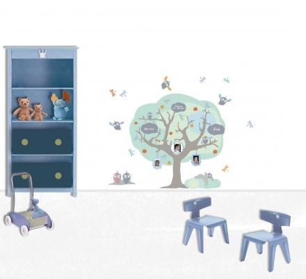 arbre g n alogique bleu eco lili pouce boutique d co