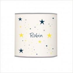 abat_jour_ou_suspension_étoiles_magiques_bleu_nuit_et_jaune_cylindrique_1