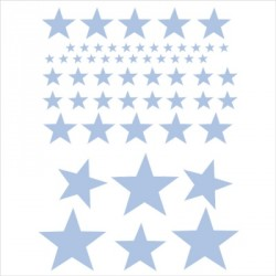 abat_jour_ou_suspension_etoile_grise_fond_blanc_rayé_bleu_ciel_et_gris_personnalisable__2