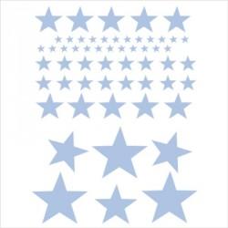 abat_jour_ou_suspension_etoile_grise_fond_bleu_rayé_bleu_ciel_et_gris_personnalisable_2