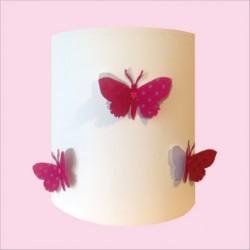 applique_papillons_3d_rose_étoilé_et_argent_personnalisable_1