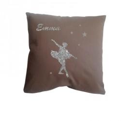 coussin_danseuse_étoile_argent_personnalisable_6