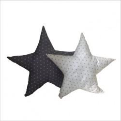 coussin_etoile_grise_étoilée_de_petites_étoiles_blanches_personnalisable_1