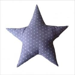 coussin_etoile_grise_étoilée_de_petites_étoiles_blanches_personnalisable_2
