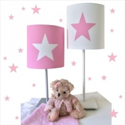 lampe_à_poser_étoile_blanche_fond_couleur_personnalisable-1