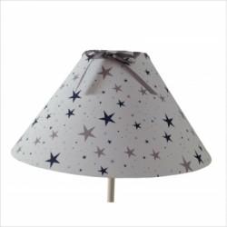 lampe_à_poser_étoiles_magiques_marine_et_gris_conique-2