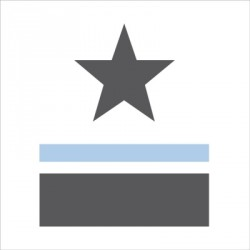 sticker_tête_de_lit_étoile_et_rayure_bleu_prénom-1