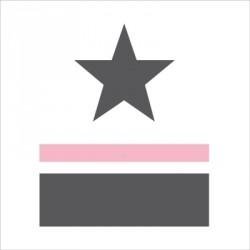 sticker_tête_de_lit_étoile_et_rayure_rose_prénom-1