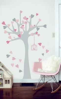 stickers_arbre_à_coeurs_rose_et_gris_1