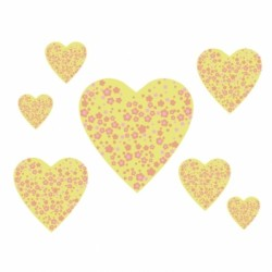 stickers_coeurs_patchwork_jaunes_muraux-1