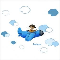 stickers_ours_en_avion_bleu_dans_les_nuages_1