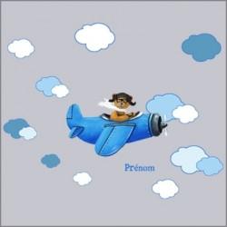 stickers_ours_en_avion_bleu_dans_les_nuages_2