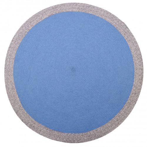 Tapis rond laine Nolan bleu de Nattiot
