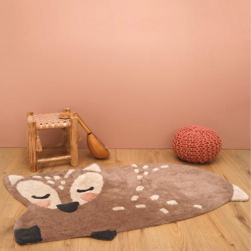 Tapis bébé coton lavable Little Deer de Nattiot