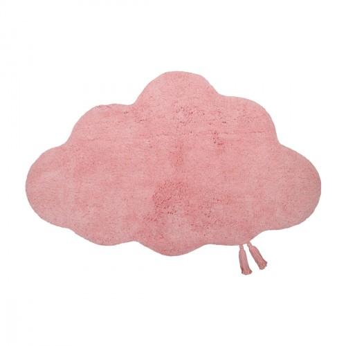 Tapis bébé coton lavable Kumo rose de Nattiot