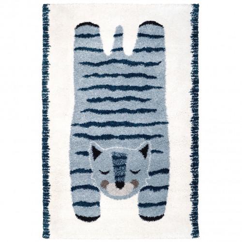 Tapis bébé chat ELVAR bleu de Nattiot