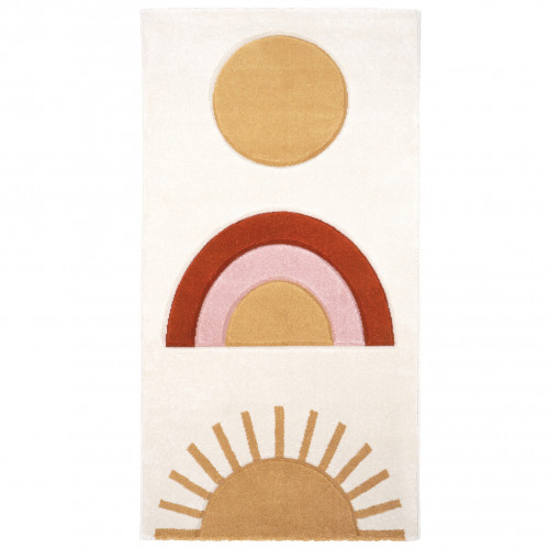 Tapis enfant arc-en-ciel NICEDAY écru de Nattiot