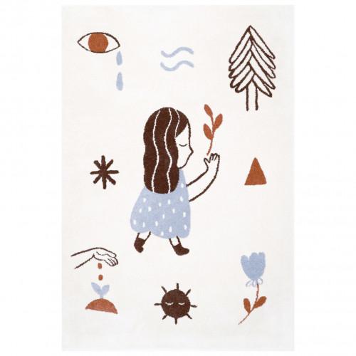 Tapis enfant fille LOVE écru by Marta Abad Blay de Nattiot (Droite)
