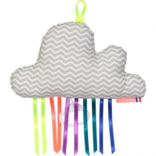 Boîte à musique nuage DUCKY grise