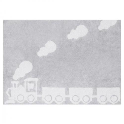 Tapis train gris