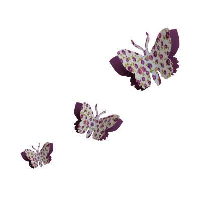 Kit de 3 papillons 3D liberty ou étoiles