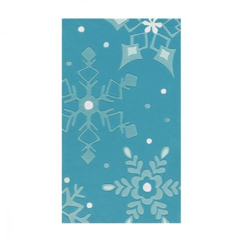 Tapis flocons de neige bleu