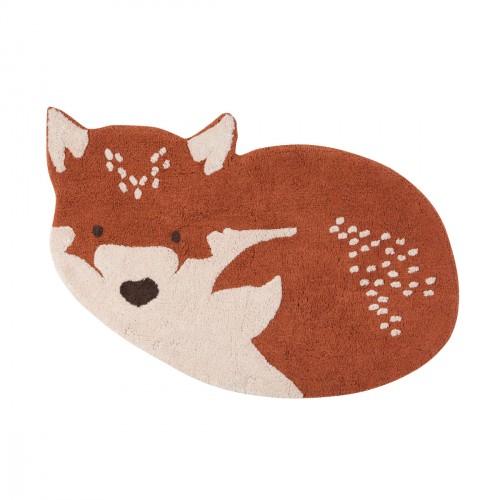 Tapis bébé coton lavable renard Little Wolf de Nattiot