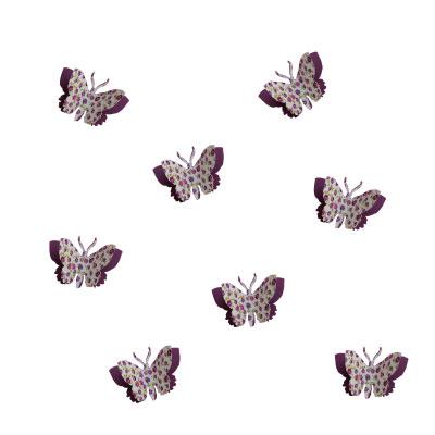 Kit de 8 papillons 3D liberty ou étoiles