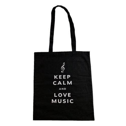 Tote bag keep calm and love music