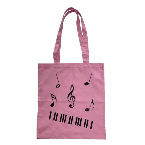 Tote bag piano et notes de musique