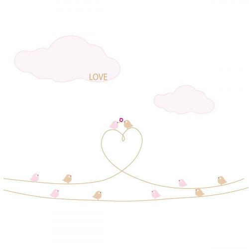 Stickers Les oiseaux d'amour - Décor 2