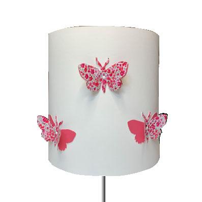 Abat jour ou Suspension papillon 3D rose Phoebe rose soutenu