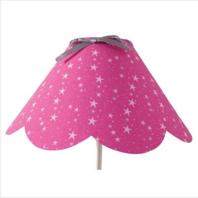 Abat jour festonné étoiles magiques rose fushia