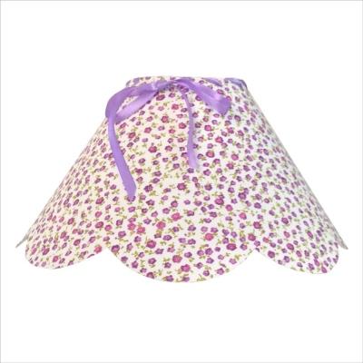 Abat jour festonné liberty fleurs violettes