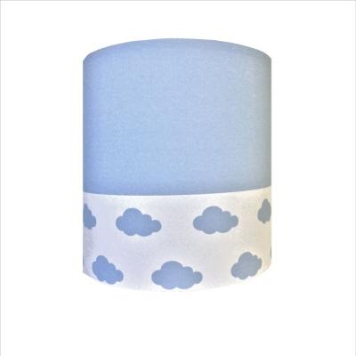 Abat jour ou Suspension  nuage bleu blanc haut bleu personnalisable