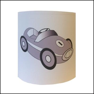 Abat jour ou Suspension  voiture grise personnalisable