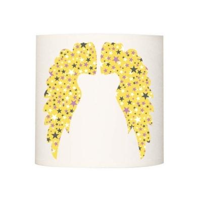 Abat jour ou suspension ailes d'anges jaunes et étoilées