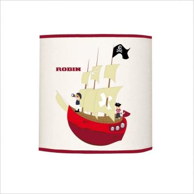 Abat jour ou suspension bateau pirate cylindrique