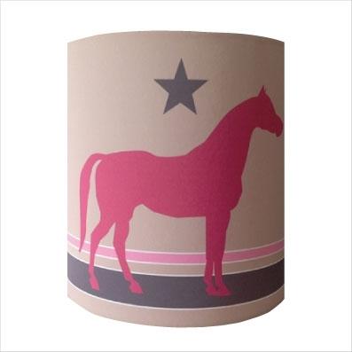 Abat jour ou Suspension cheval rose personnalisable