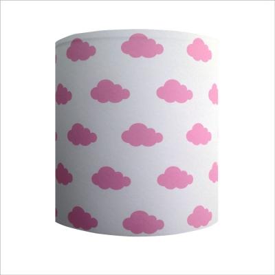 Abat jour ou Suspension ciel de nuages rose personnalisable