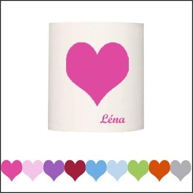 Abat jour ou Suspension coeur couleur personnalisable