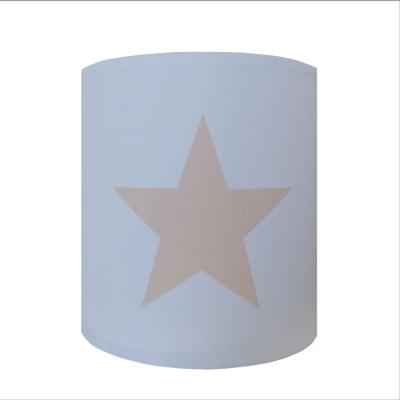 Abat jour ou Suspension etoile beige fond bleu personnalisable