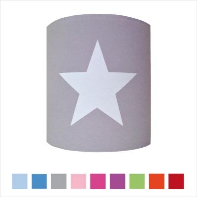Abat jour ou Suspension etoile blanche fond couleur personnalisable