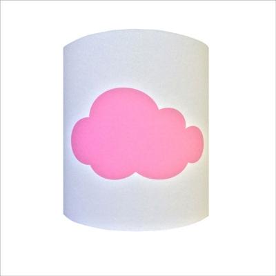 Abat jour ou Suspension nuage rose personnalisable