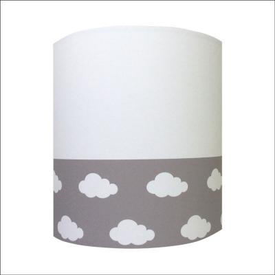 Abat jour ou Suspension nuages blanc gris haut blanc personnalisable