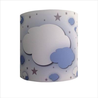 Abat jour ou Suspension nuages dans ciel étoilé bleu ciel personnalisable