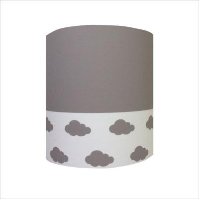 Abat jour ou Suspension nuages gris blanc haut gris personnalisable
